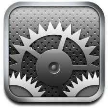 iPadの設定アイコン
