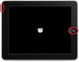 強制再起動のアップルマーク